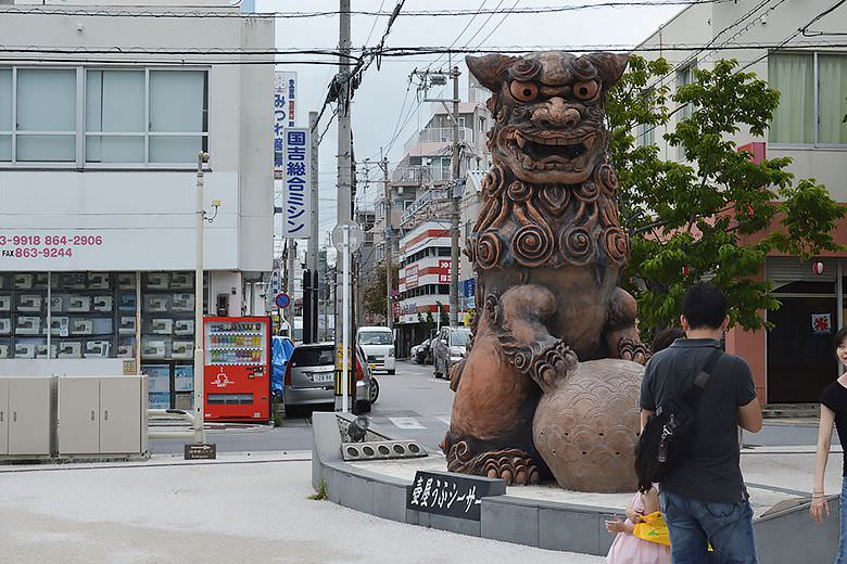 Giant Statue of Shisa (Guard Dog)